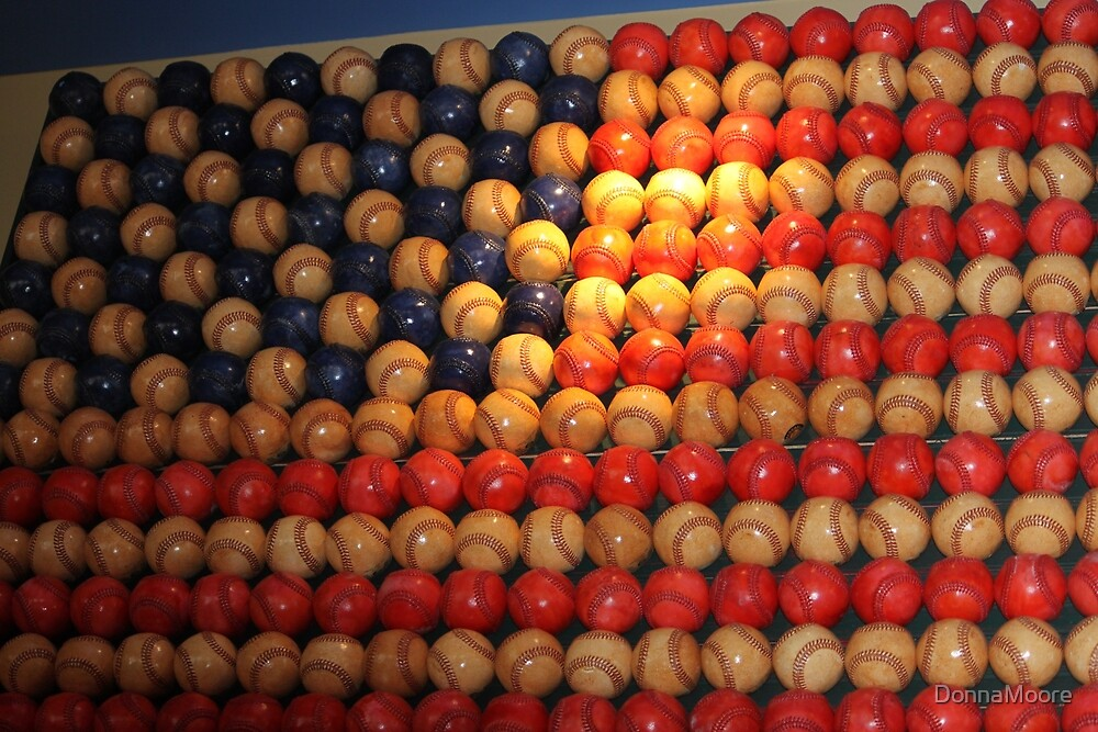 Stars and Stripes baseball style..... by DonnaMoore