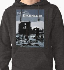 Stalingrad - Winter War Travel Poster Pullover Hoodie