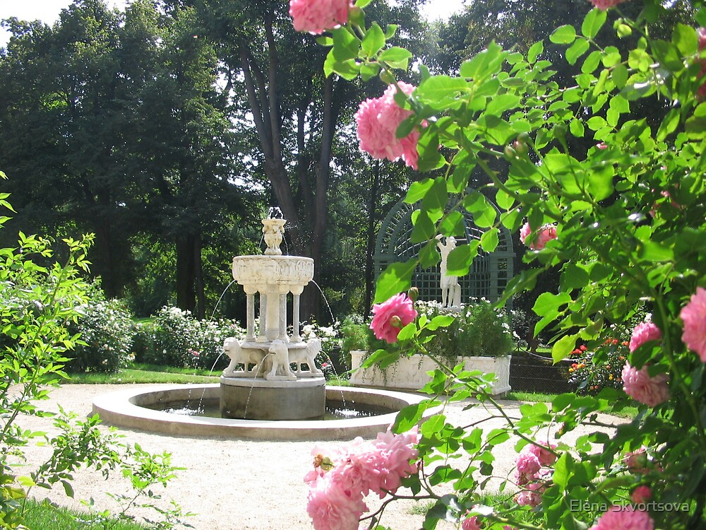 Garden of the Lancut palace by Elena Skvortsova