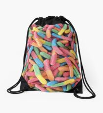 Rainbow Gummyworms Drawstring Bag
