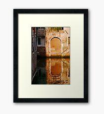 Canal Framed Print