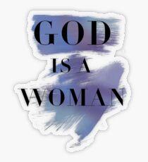 Gott ist eine Frau Transparenter Sticker