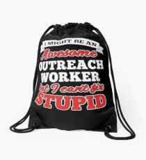 OUTREACH WORKER T-shirts, i-Phone Cases, Hoodies, & Merchandises Drawstring Bag