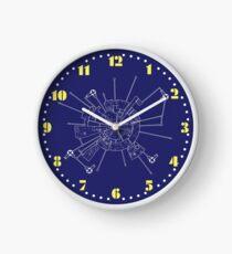 SPACE 1999 CLOCK 2 : MOONBASE ALPHA DIAGRAM Clock