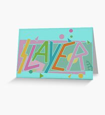 party beach 80,s Greeting Card