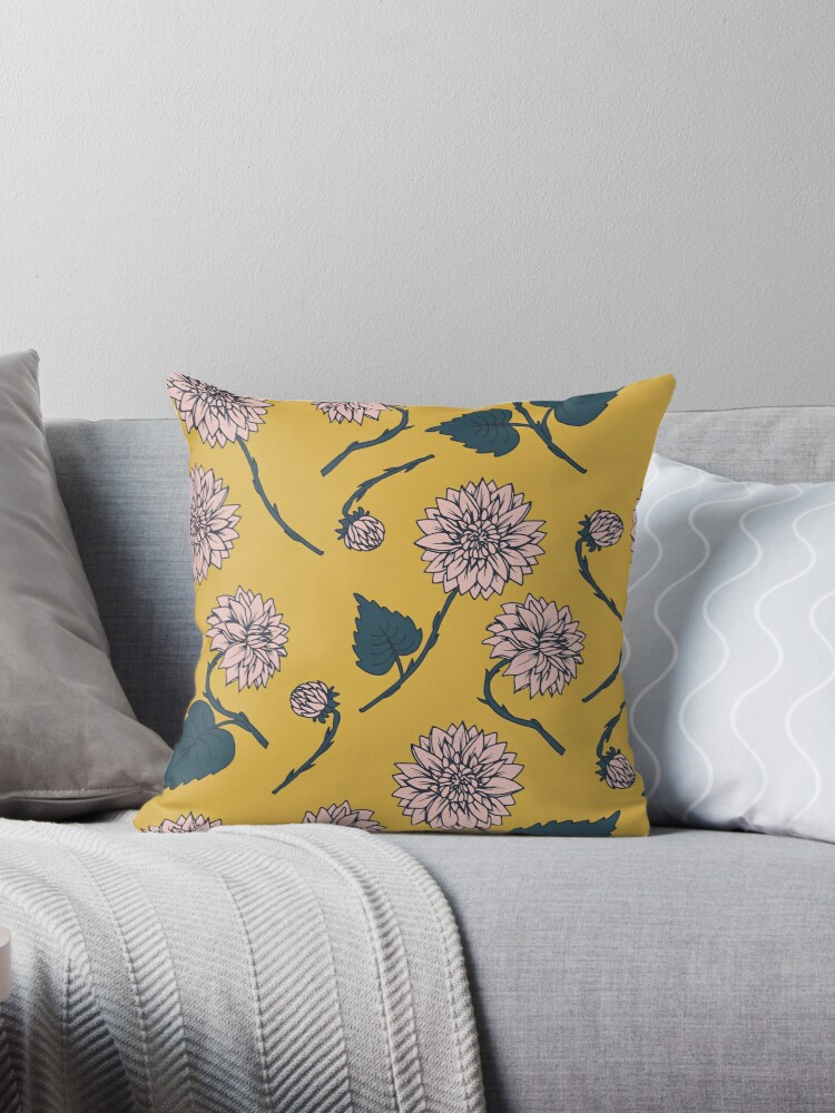 dahlia pattern, yellow by studionaika
