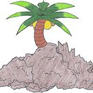 Palm Atop The Rugged Embankment by Naean Howlett-Foster