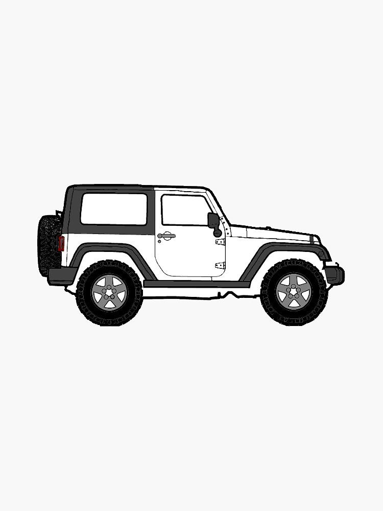 Weißer Jeep von leedleleigh