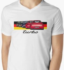 Shift Shirts Turbo Generations – 911 Turbo Inspired Men's V-Neck T-Shirt