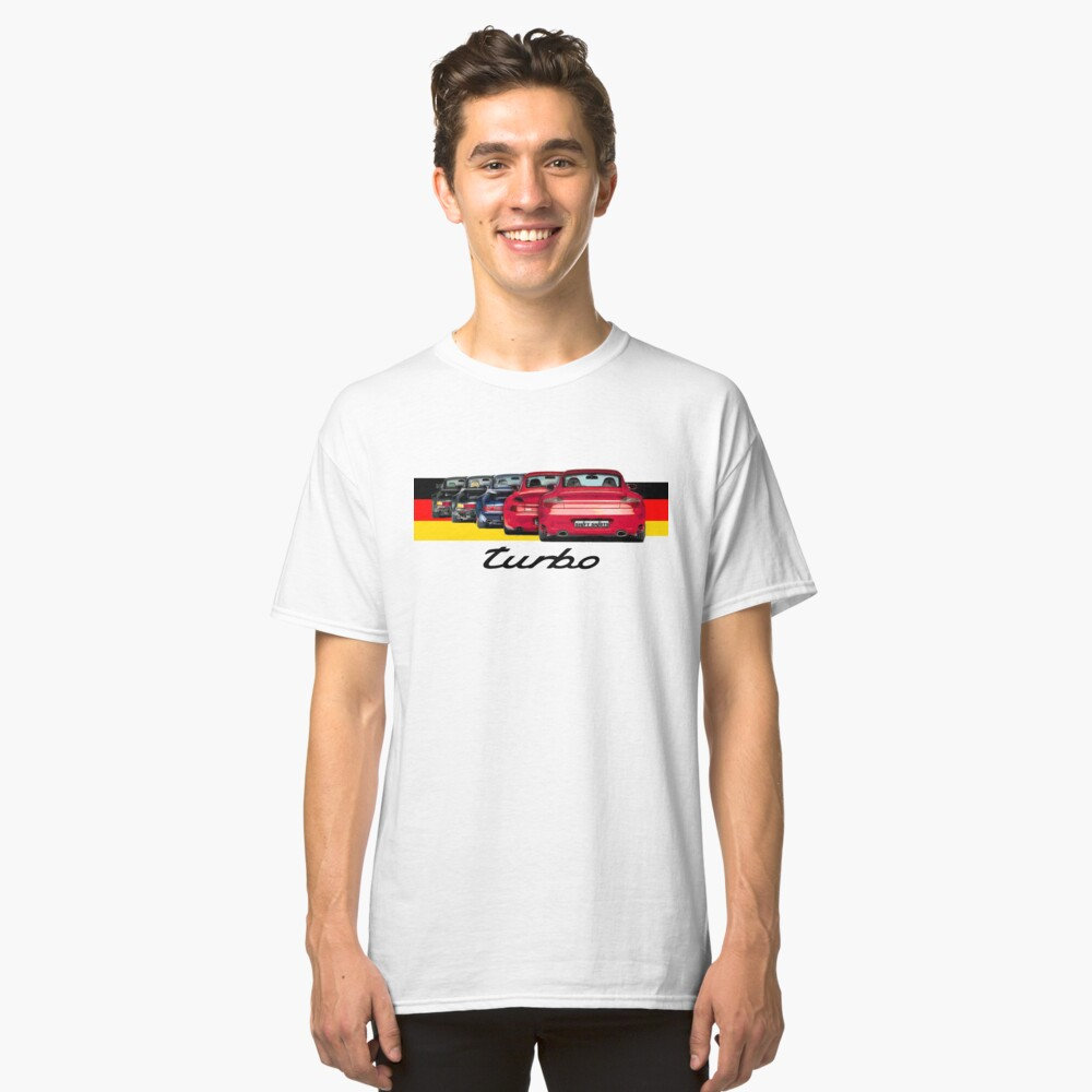 Shift Shirts Turbo Generations – 911 Turbo Inspired Classic T-Shirt Front