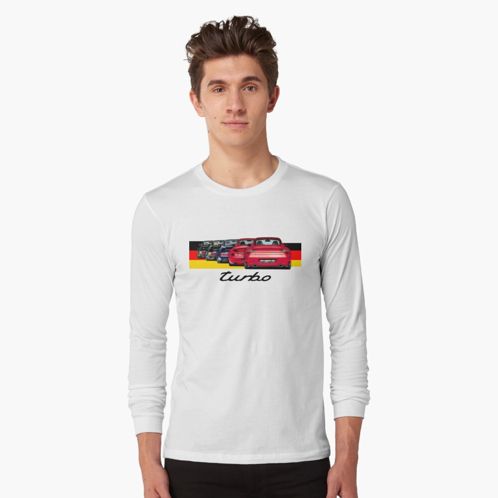 Shift Shirts Turbo Generations – 911 Turbo Inspired Long Sleeve T-Shirt