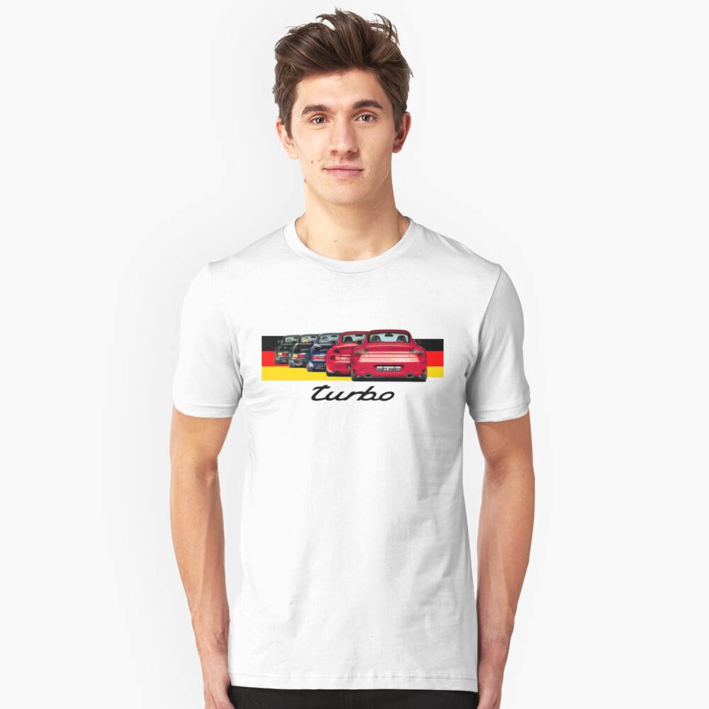 Shift Shirts Turbo Generations – 911 Turbo Inspired Slim Fit T-Shirt