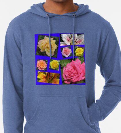 Rosen und Lilien Collage Leichter Hoodie
