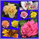 Rosen und Lilien Collage von BlueMoonRose