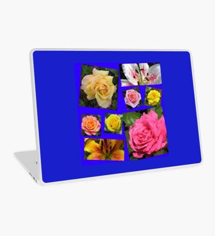 Rosen und Lilien Collage Laptop Skin