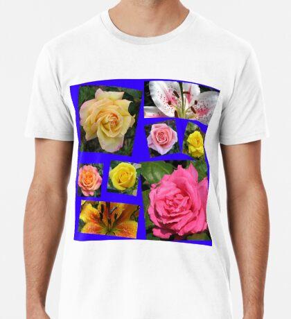 Rosen und Lilien Collage Premium T-Shirt