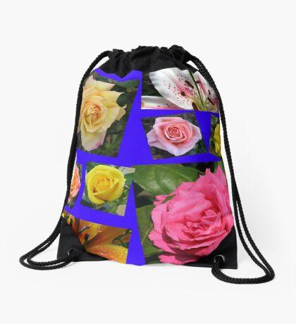 Rosen und Lilien Collage Turnbeutel