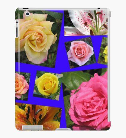 Rosen und Lilien Collage iPad-Hülle & Klebefolie