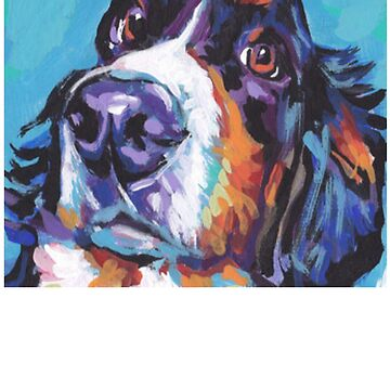 Bernese Mountain Dog Painting - Dog Shirt - Gift For Dog Lovers by Galvanized