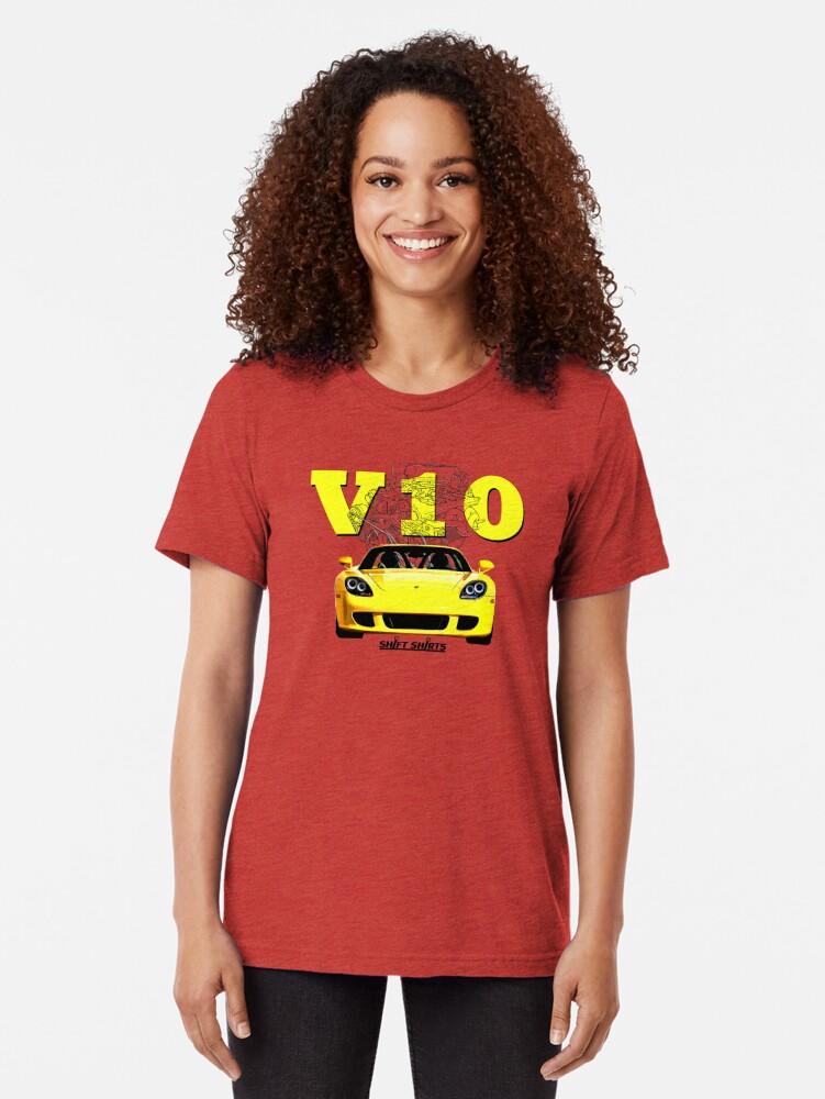 Alternate view of Shift Shirts V10 Music - Carrera GT Inspired Tri-blend T-Shirt