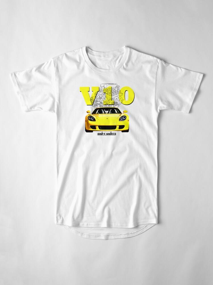 Alternate view of Shift Shirts V10 Music - Carrera GT Inspired Long T-Shirt