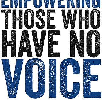 Empowering Those Who Have No Voice Speech Therapist Shirt by 14thFloor