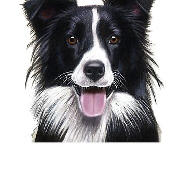 Border Collie Painting Design - Dog Shirt - Gift For Dog Lovers by Galvanized