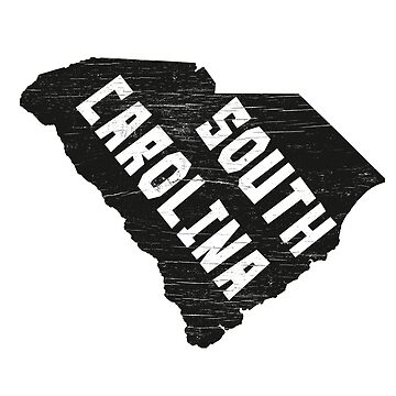 South Carolina Home Vintage Distressed Map Silhouette by YLGraphics