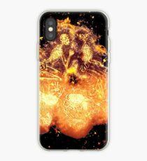 Skeleton human burning iPhone Case