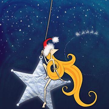 Kazart Phoebe Super Star Christmas by kazartgallery