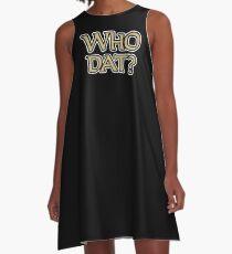 Who Dat 2 A-Line Dress