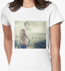 Humanity War Women's Fitted T-Shirt