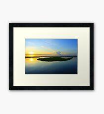 Sunset over the Horizon Framed Print