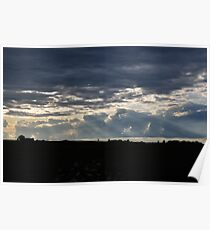 Clouds and Rays Poster