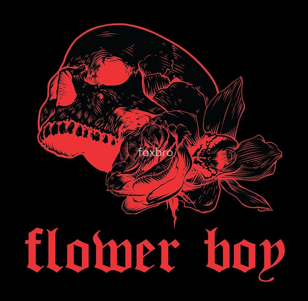 flower boy (skull) by foxbro