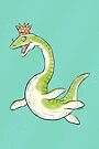Plesiosaur in a party hat by Richard Morden