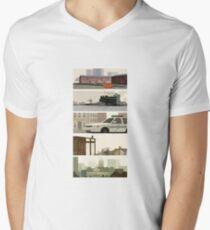 Camiseta para hombre de cuello en v El alambre