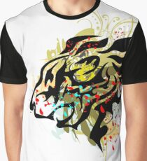 Abstract Lion Roar Graphic T-Shirt