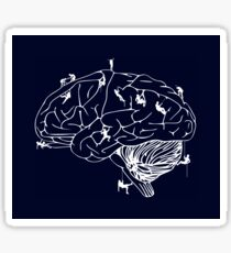 Climbing On The Brain Sticker
