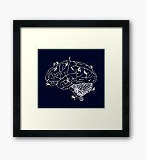 Climbing On The Brain Framed Print