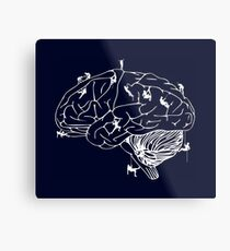 Climbing On The Brain Metal Print