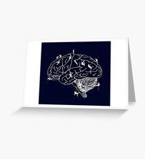 Climbing On The Brain Greeting Card