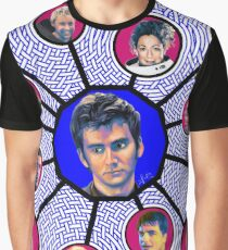 10th Doctor Character Weave Graphic T-Shirt