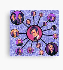 11th Doctor Character Weave Canvas Print