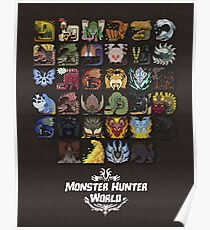 Monster Hunter World Poster Poster