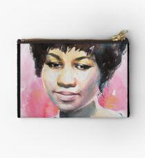 Queen in Watercolor - Black Studio Pouch