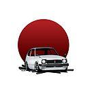 Honda Civic Heritage Shirt by Mostafa Shafaq