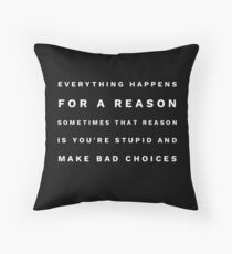 Sarcastic wisdom  Throw Pillow