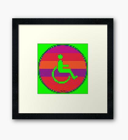 Handicap and singularity 7/99 Framed Print