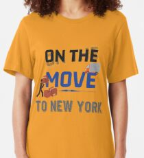 On the Move to New York Moving State & House  - Moving States Gift Slim Fit T-Shirt